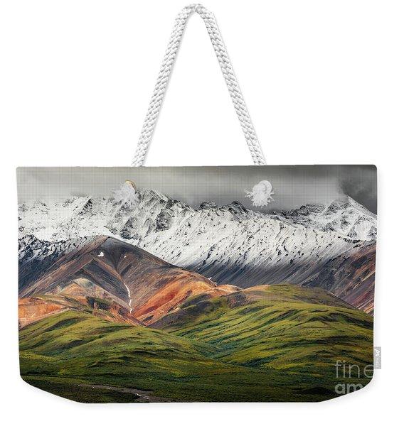 Polychrome Mountain, Denali Np, Alaska Weekender Tote Bag