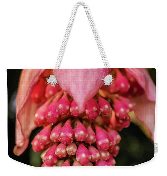 Pomegranate Flower Weekender Tote Bag