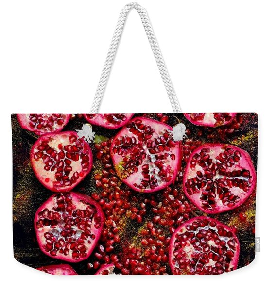 Pomegranate New Year Weekender Tote Bag