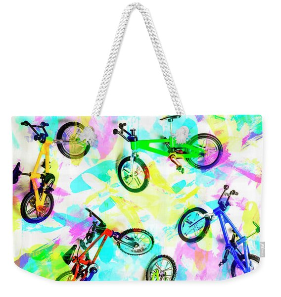Pop Art Circuit Weekender Tote Bag