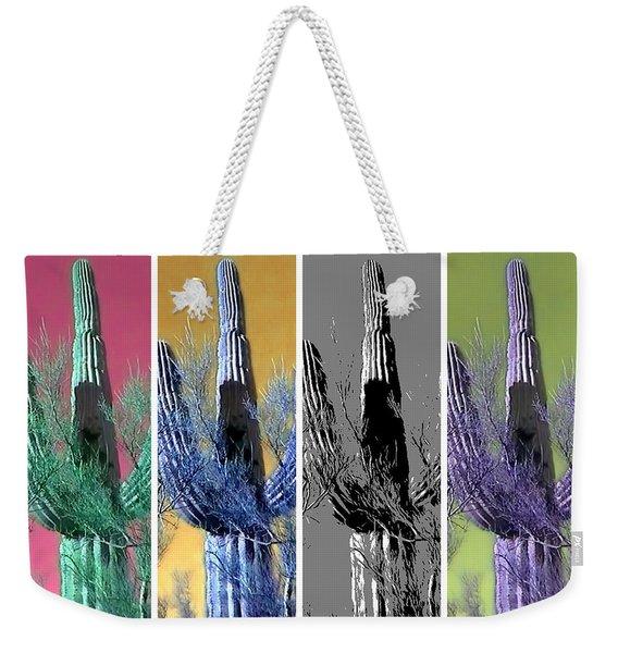 Pop Saguaro Cactus Weekender Tote Bag