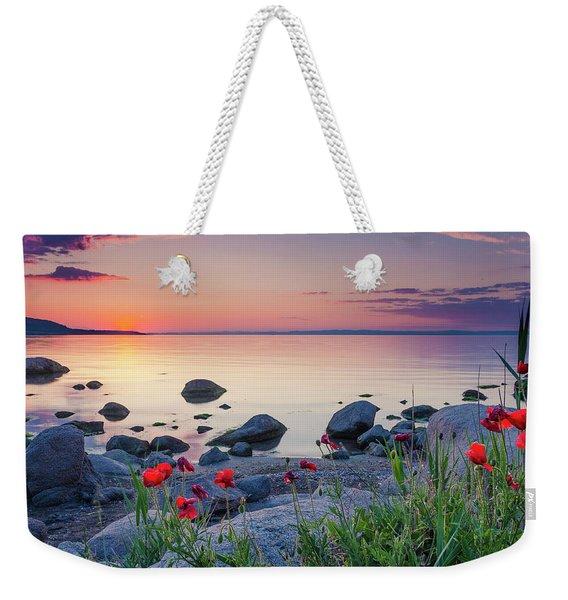 Poppies By The Sea Weekender Tote Bag