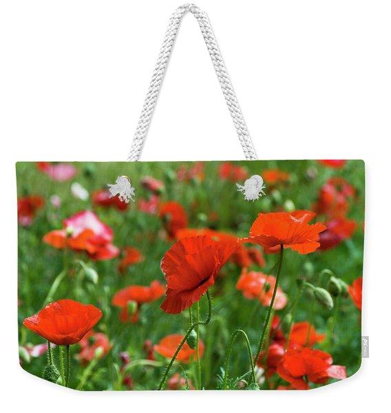 Poppies In The Field Weekender Tote Bag