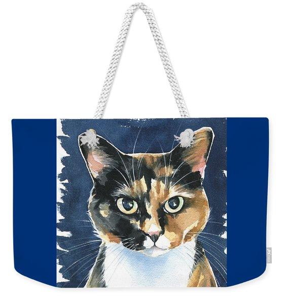 Poppy Calico Cat Painting Weekender Tote Bag