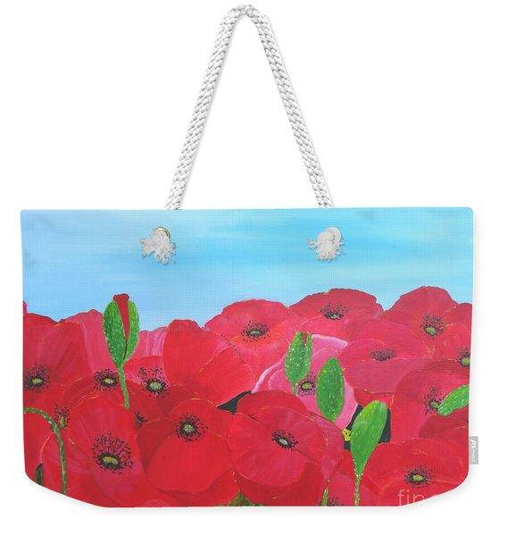 Poppy Parade Weekender Tote Bag