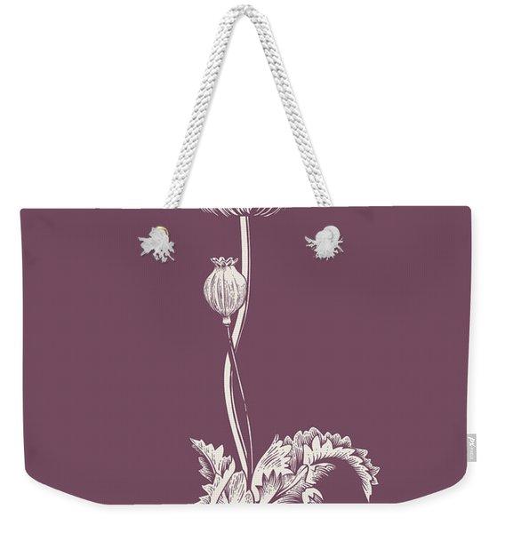Poppy Purple Flower Weekender Tote Bag