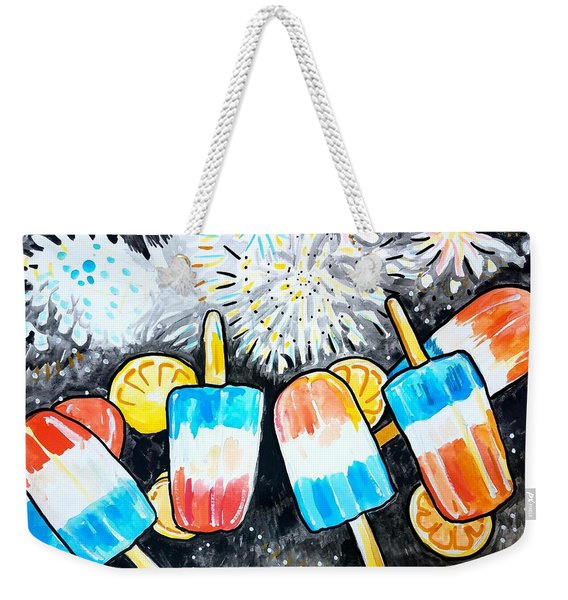 Popsicles And Fireworks Weekender Tote Bag