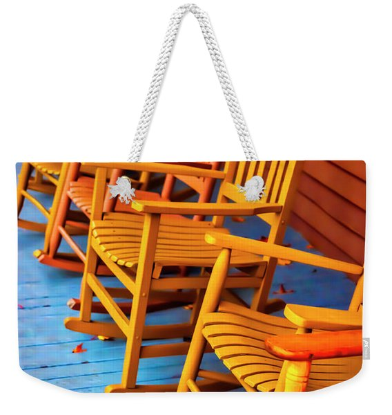 Porch Rocking Chairs Weekender Tote Bag