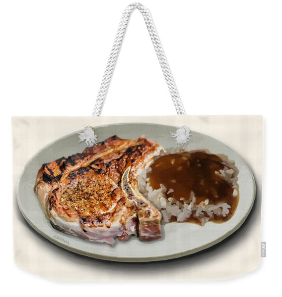 Pork Chop And Rice Weekender Tote Bag