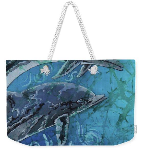 Porpoise Pair - Close Up Weekender Tote Bag