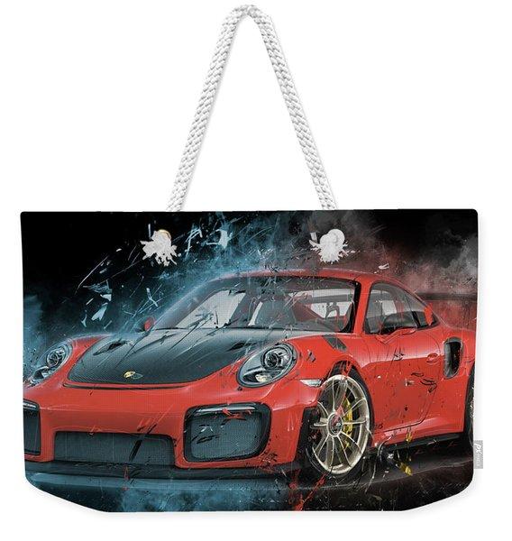 Porsche 911 Gt2 Weekender Tote Bag