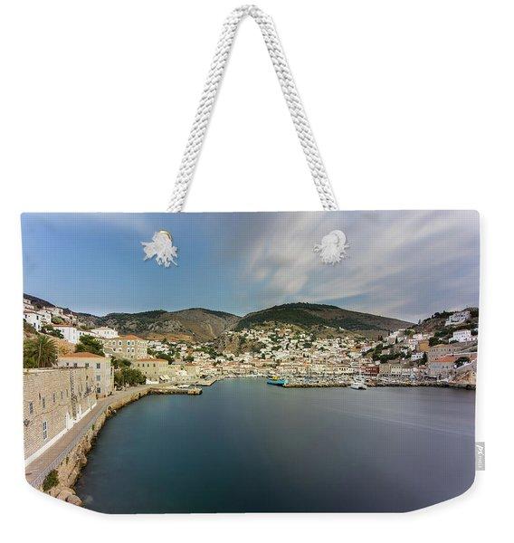 Port At Hydra Island Weekender Tote Bag