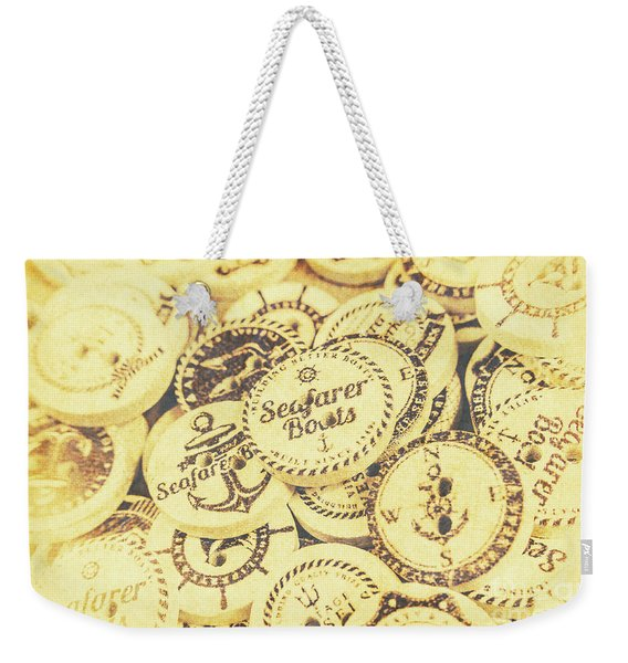 Port Holes And Anchor Buttons Weekender Tote Bag