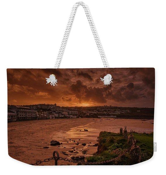 Porthmeor Sunset 2 Weekender Tote Bag