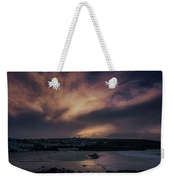 Porthmeor Sunset 4 Weekender Tote Bag
