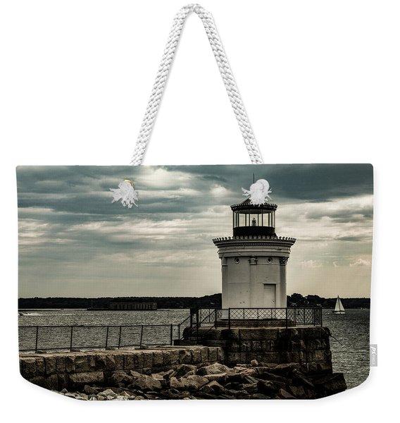 Portland Breakwater Lighthouse Maine Weekender Tote Bag
