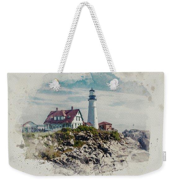 Portland Head Lighthouse Cape Elizabeth Maine Weekender Tote Bag