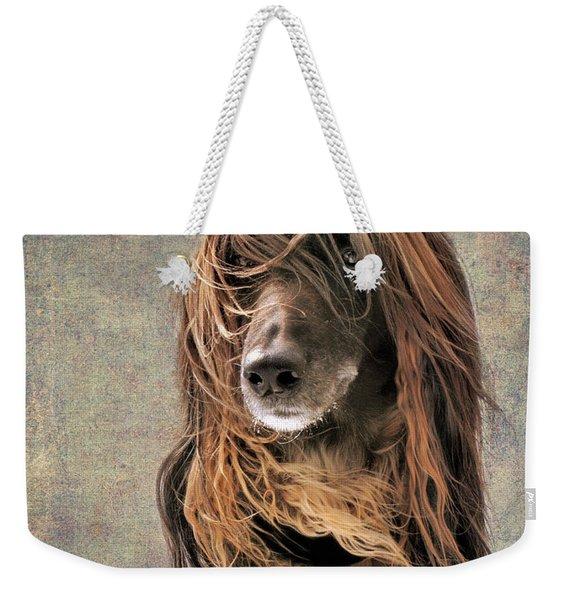 Portrait Of An Afghan Hound Weekender Tote Bag