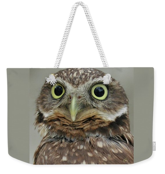 Portrait Of Burrowing Owl Weekender Tote Bag
