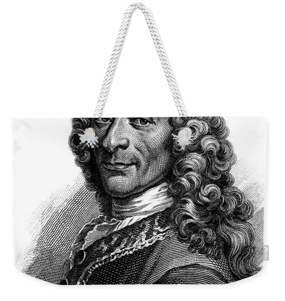 Portrait Of Voltaire, Engraving  Weekender Tote Bag