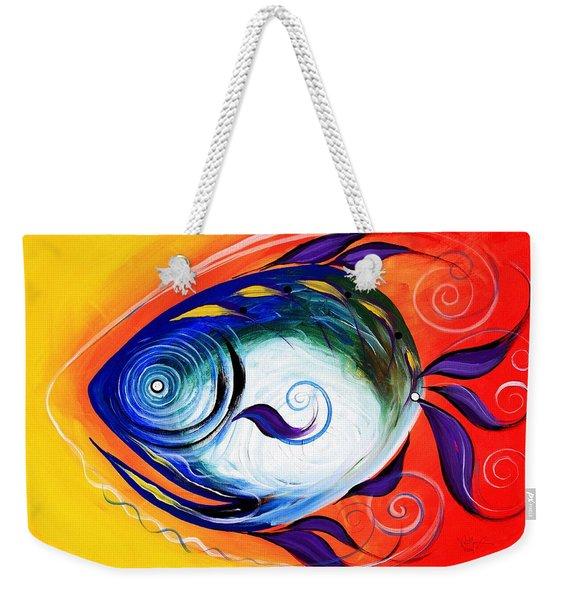 Positive Fish Weekender Tote Bag