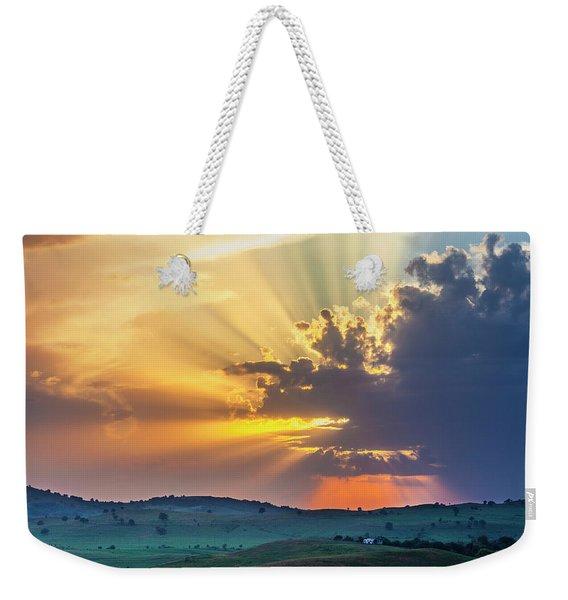 Powerful Sunbeams Weekender Tote Bag
