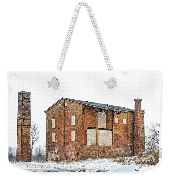 Powerless Station In A Blizzard Weekender Tote Bag