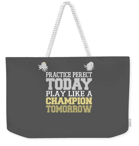 Practice Perfect Weekender Tote Bag