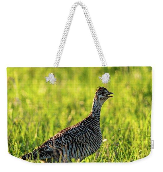 Prairie Chicken Hen Weekender Tote Bag