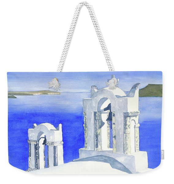 Weekender Tote Bag featuring the painting Praise The Lord by Rich Stedman