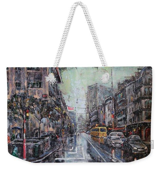 Pre-christmas Snow Weekender Tote Bag