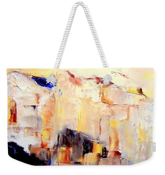 Precipice 1 Austrian Alps Imagined-dedicated  Weekender Tote Bag