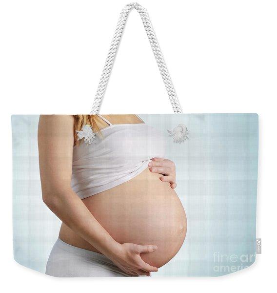 Pregnancy Weekender Tote Bag
