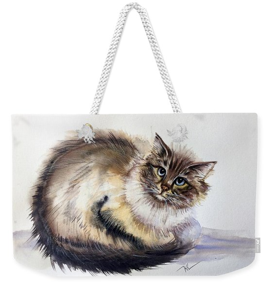 Pretty Cat Weekender Tote Bag
