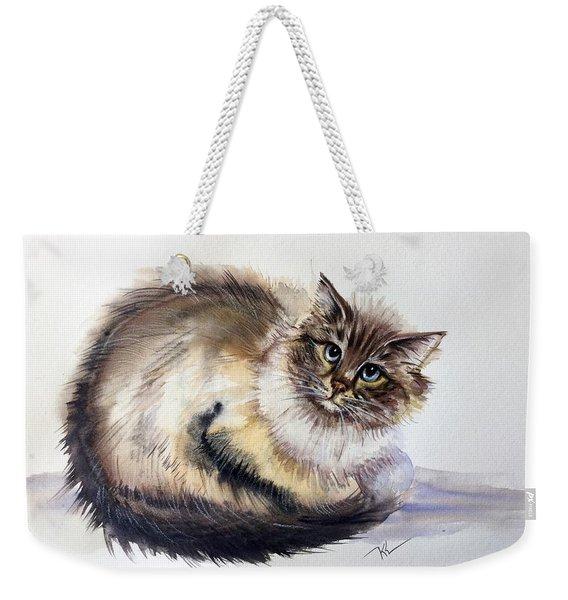 Pretty Cat Weekender Tote Bag