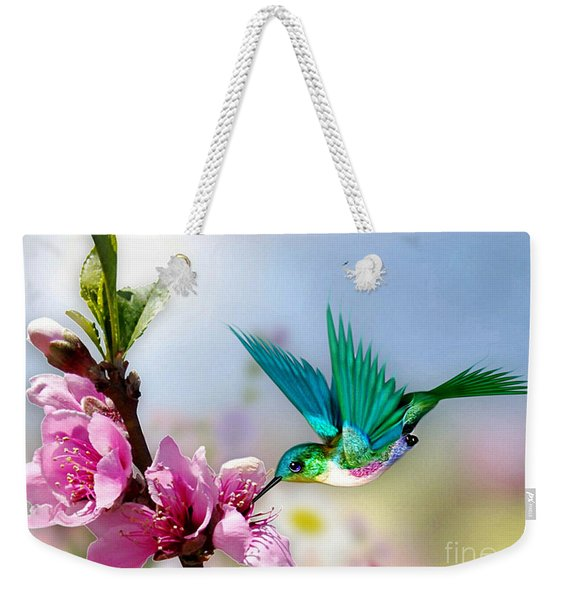 Pretty Hummingbird Weekender Tote Bag