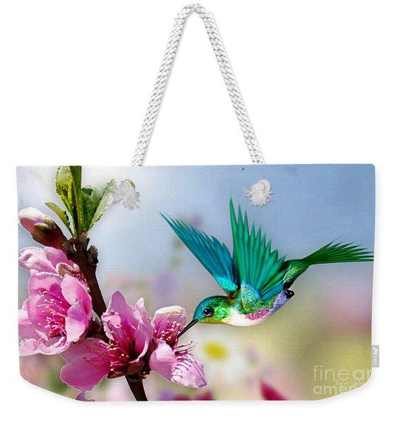 Pretty Hummingbird Weekender Tote Bag
