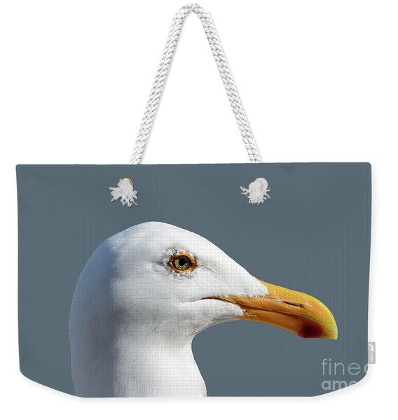 Pretty Western Gull In Profile Weekender Tote Bag