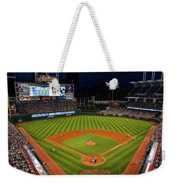 Progressive Field Night Game Weekender Tote Bag
