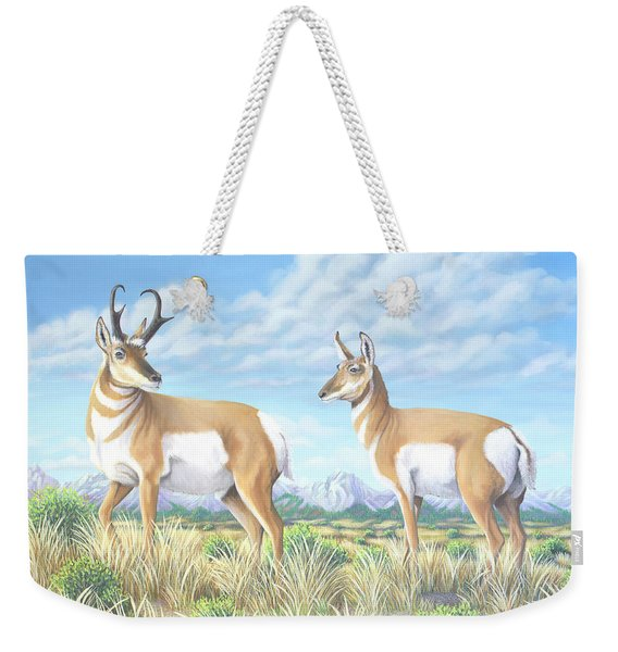 Pronghorn By The Tetons Weekender Tote Bag