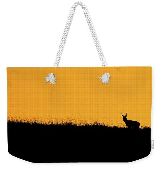 Pronghorn Ridgeline Sunset Weekender Tote Bag