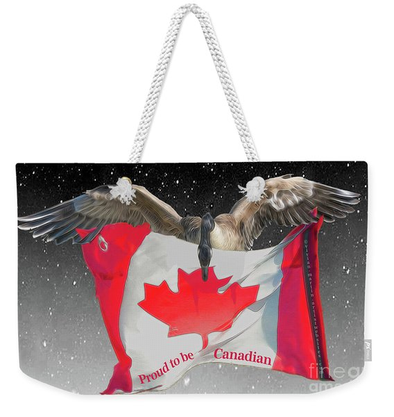 Proud To Be Canadian Weekender Tote Bag