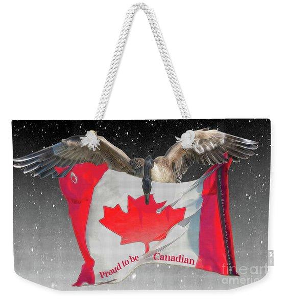 Proud To Be Canadian Weekender Tote Bag