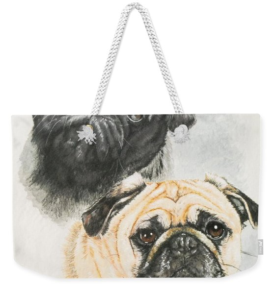 Pug Brothers Weekender Tote Bag