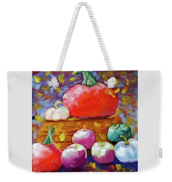 Pumpkins And Apples Weekender Tote Bag