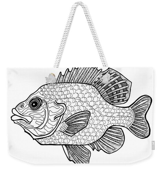 Pumpkinseed Fish Weekender Tote Bag