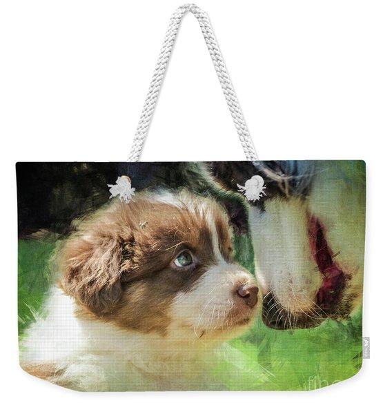 Puppy Dog Weekender Tote Bag