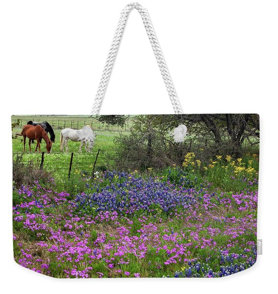 Bluebonnets And Pure Texas  Weekender Tote Bag