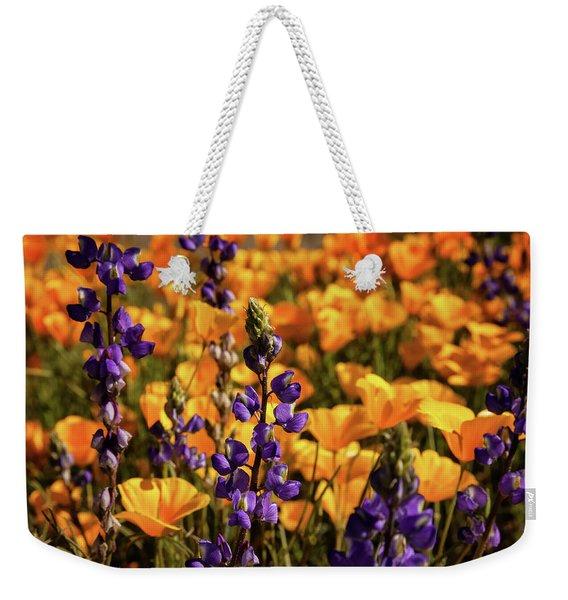 Purple And Gold Weekender Tote Bag