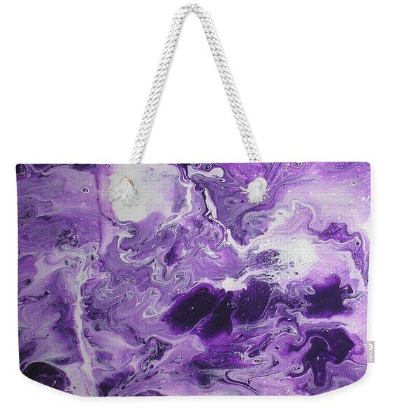 Purple Chaos Abstract 1  Weekender Tote Bag